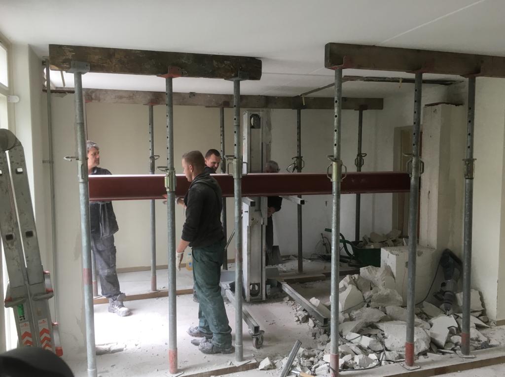 Dragende muur verwijderen Breda